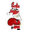 Claude Verdugo - Santa up on the rooftop  artwork